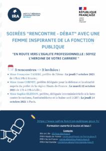 """Soirées """"rencontre-débat"""" avec une femme inspirante de la fonction publique"""